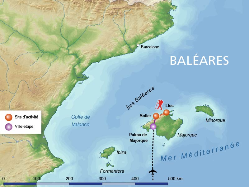 carte europe baleares